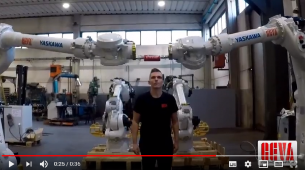 Not just work...Let's play with two twin robots!